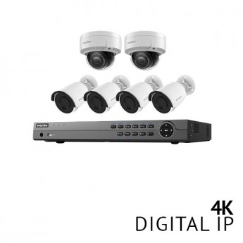 8 Channel 4K NVR Security System with 6x 4K HD IP Cameras