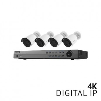 8 Channel 4K NVR Security System with 4x 4K HD IP Cameras