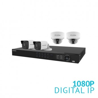 8 Channel HD NVR with 4x 1080P HD IP Cameras