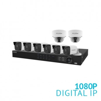 8 Channel NVR Security System with 8x 1080P IP Cameras