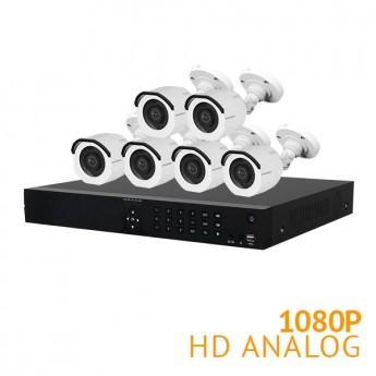 16 Channel Security System with 6x HD 1080P Cameras