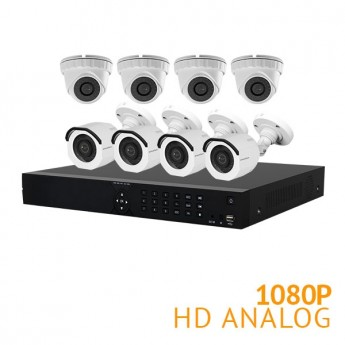 16 Channel Security System with 8x HD 1080P Cameras