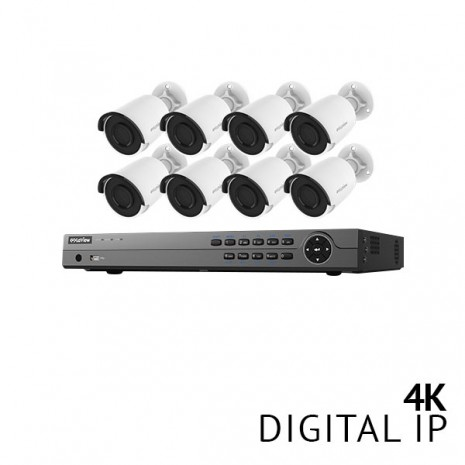 16 Channel 4K NVR Security System with 8x 4K HD IP Cameras
