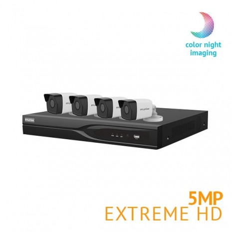 8 Channel DVR Security System with 4x Extreme HD 5MP cameras