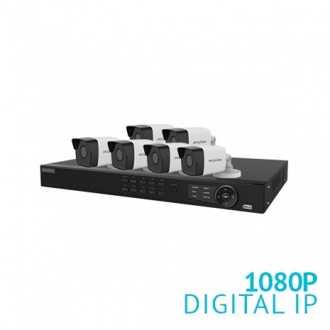 8 Channel HD NVR Security System with 6x 1080P Bullet IP Cameras