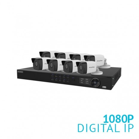 8 Channel HD NVR Security System with 8x 1080P Bullet IP Cameras