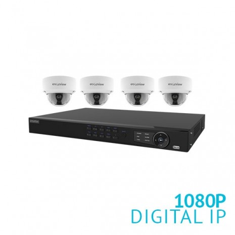 8 Channel HD NVR with 4x 1080P IP Dome Cameras