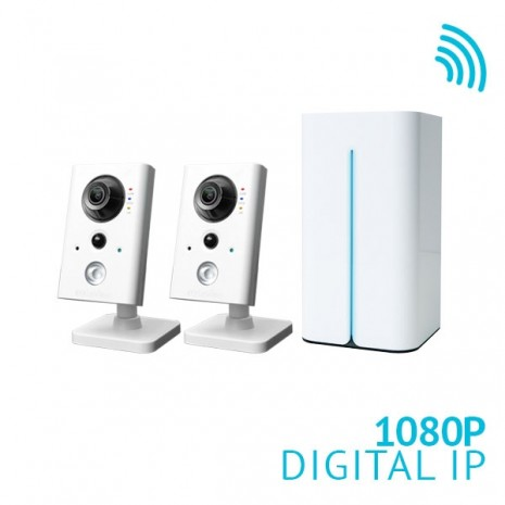 8 Channel HD NVR with 2x 1080P HD WiFi IP Cameras