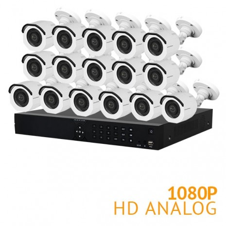 16 Channel Security System with 16x HD 1080P Cameras