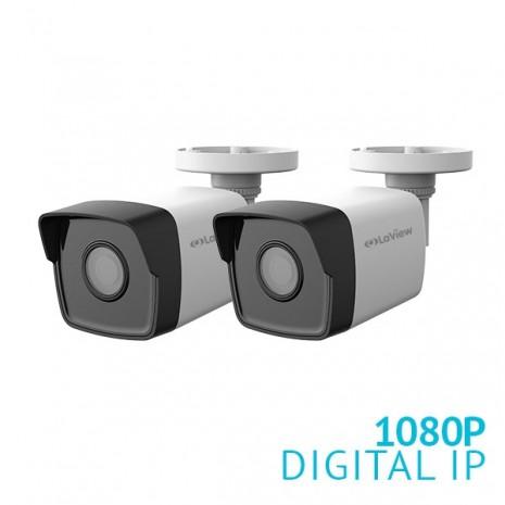 2x 1080P HD IP Bullet Cameras