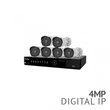 8 Channel 4K NVR Security System with 6x 4MP HD IP Bullet Cameras